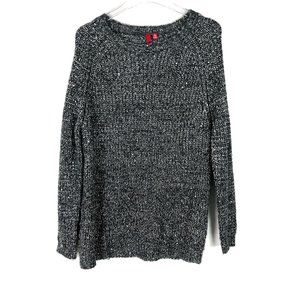 Saks Fifth Avenue 5/48 Sequin Oversized Chunky Knit Tunic Sweater Small S